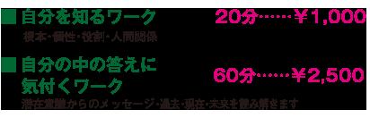 カラーセラピー価格表
